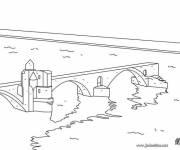 Free coloring and drawings Bridge coloring Coloring page