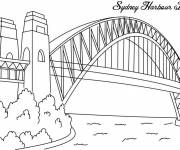 Free coloring and drawings Bridge of Sidney Coloring page