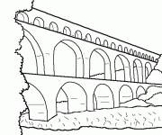 Free coloring and drawings Bridge simple Coloring page