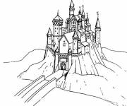 Free coloring and drawings Castle Bridge Coloring page
