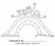 Free coloring and drawings Children's bridge Coloring page