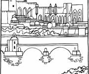 Free coloring and drawings Color Bridge Coloring page
