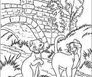 Free coloring and drawings Duchess and Thomas Coloring page