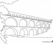 Free coloring and drawings Easy bridge Coloring page