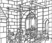 Free coloring and drawings Medieval bridge Coloring page