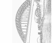 Free coloring and drawings Realistic bridge Coloring page