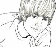 Coloring pages Camp Rock Justin Bieber