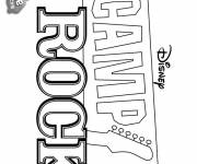 Coloring pages Camp Rock Poster