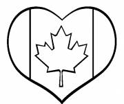 Coloring pages Love of canada