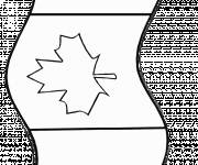 Coloring pages The Canadian Flag