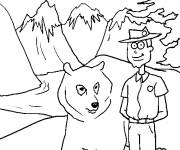 Coloring pages The mountains of Canada