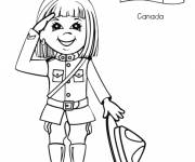 Coloring pages Valerie The little Canadian