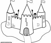 Coloring pages Castle and its guards
