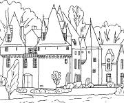 Free coloring and drawings castle coloring Coloring page