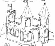 Free coloring and drawings chopping castle Coloring page