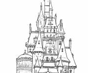 Free coloring and drawings color castle Coloring page