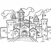 Coloring pages fortress drawing