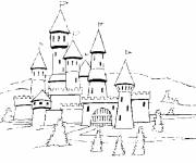 Free coloring and drawings medieval castle Coloring page