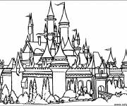 Free coloring and drawings old castle Coloring page