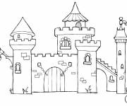 Free coloring and drawings online castle Coloring page