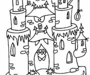 Free coloring and drawings scary castle Coloring page