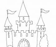 Free coloring and drawings simple castles Coloring page