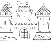 Free coloring and drawings stylized castle Coloring page