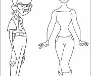 Coloring pages celebrities cartoon