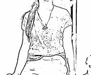 Coloring pages celebrities coloring
