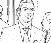 Coloring pages celebrities cristiano ronaldo