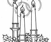 Coloring pages 3 illuminated candles