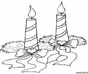 Coloring pages burning christmas candle