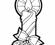 Coloring pages candle flame drawing