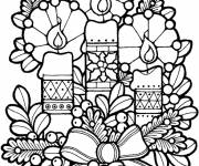 Coloring pages Christmas candles
