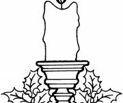 Coloring pages Christmas candles color
