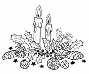 Coloring pages Decorative Christmas candles