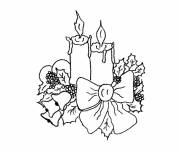 Coloring pages drawing 4 advent candles