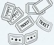 Coloring pages A Ticket for a film