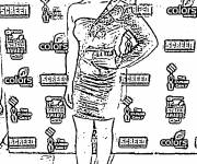 Coloring pages Cinema Celebrities