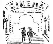 Coloring pages Online Cinema Hall