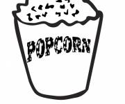 Coloring pages Popcorn for the film