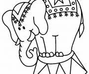 Free coloring and drawings A Circus Elephant Coloring page