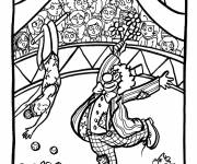 Free coloring and drawings Circus Amused viewers Coloring page