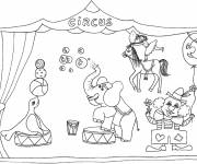Coloring pages Circus animals