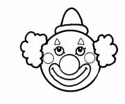 Free coloring and drawings Circus Clown's Head Coloring page