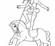 Free coloring and drawings Circus Horse Show Coloring page