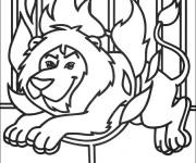 Free coloring and drawings Circus Lion Show Coloring page