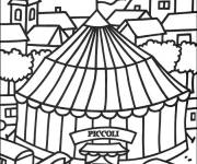 Coloring pages Circus Marquee