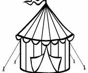 Free coloring and drawings Circus Miniature marquee Coloring page