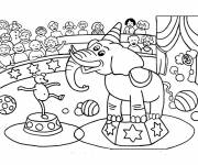 Free coloring and drawings Circus show Coloring page